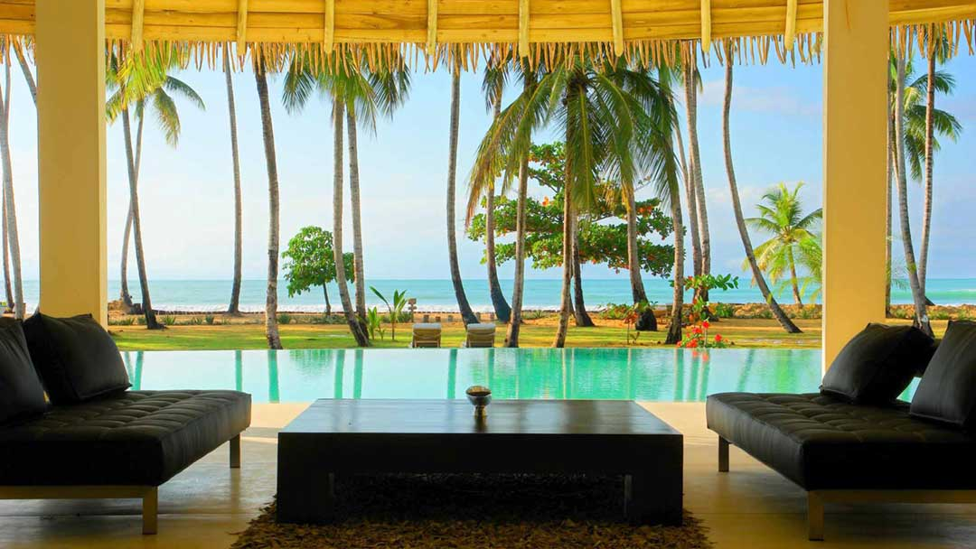 Perfect ocean view from Villa del Mar in Las Terrenas