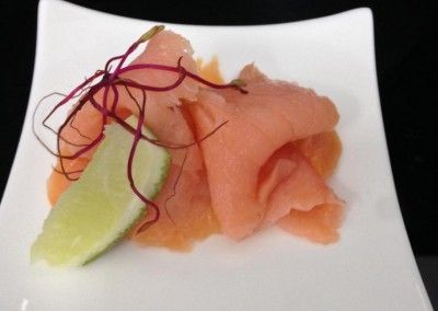 Appetizer with Salmon from MI CORAZON Catering