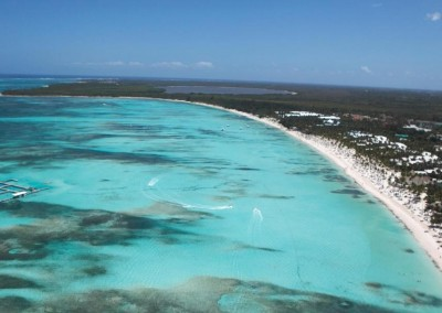 The long-stretch of perfect beach in Punta Cana and Bavaro