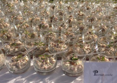 Peruvian Ceviche Canape from our DOMINICAN EXPERT Catering