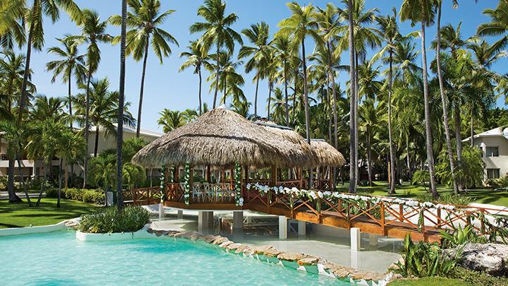 Destination Wedding Gazebo in a tropical garden