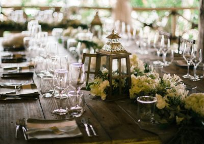 Rustic destination wedding decoration