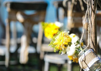 Colorful Caribbean wedding decoration elements