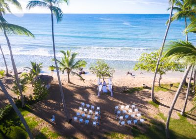 Wedding ceremony in a private villa at the beach