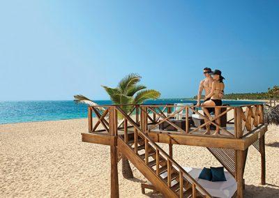 Sonnenterrasse im Secrets Royal Beach, Domnikanische Republik