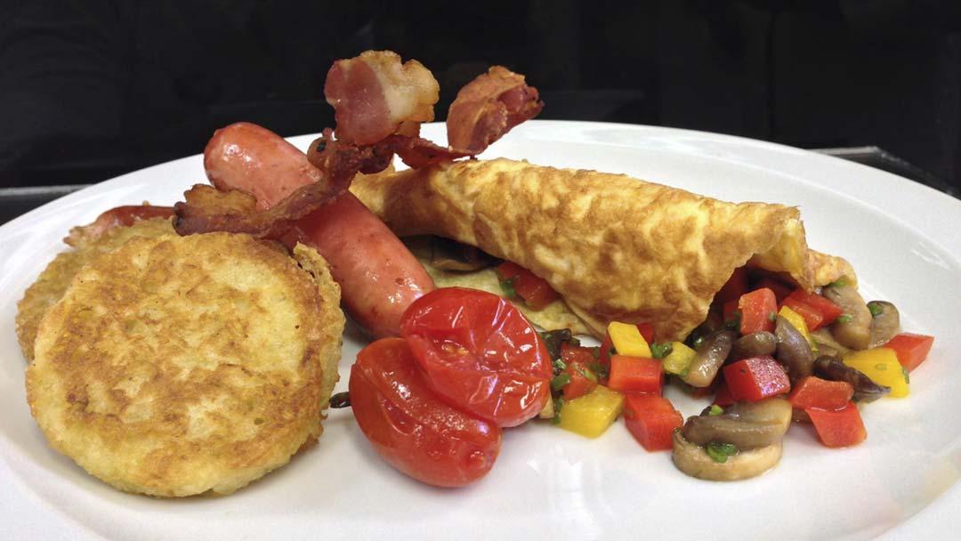 A delicious breakfast prepared by MI CORAZON catering