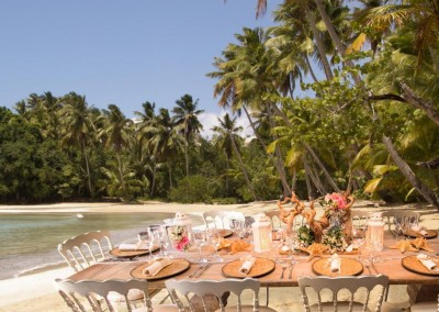 Lunch at the beach organized by DOMINICAN EXPERT