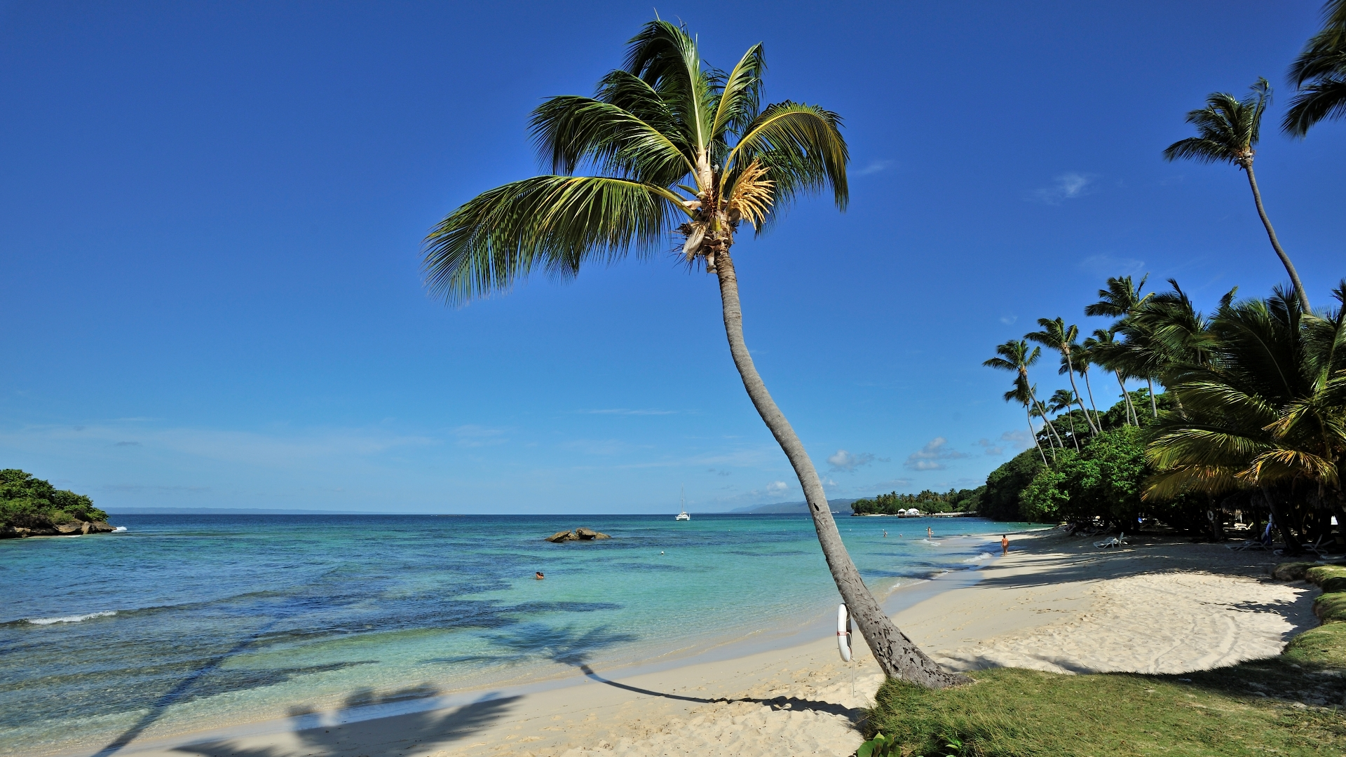 Ein perfekter Sonnenuntergang in der Dominikanischen Republik
