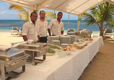 Buffet on the beach