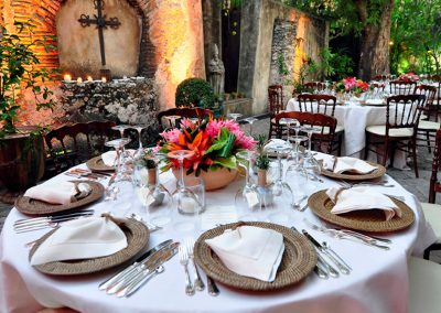 Wedding setup in the Quinta Dominica in Santo Domingo.