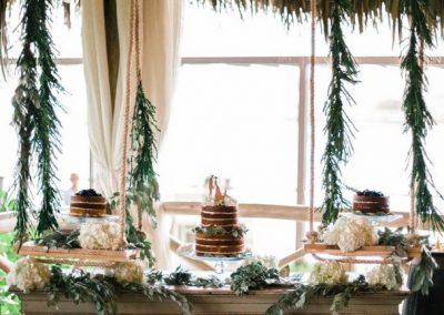 Rustic destination wedding decoration