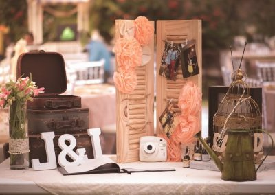 Welcome Table for rustic beach wedding