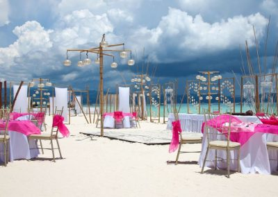 Destination Wedding Dinner at the Beach