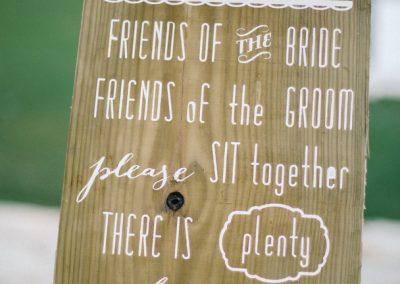 Rustic beach wedding decoration details
