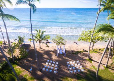 Wedding ceremony in a private villa at the beach